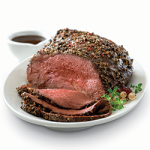 Balsamic Garlic and Tri-Pepper-Crusted Roast
