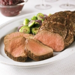 Beef Tenderloin with Easy Cranberry Balsamic Sauce