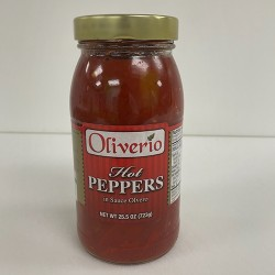 Grocery: Oliverio Hot Peppers in Sauce