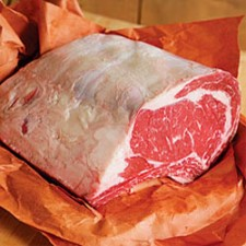 Beef: Rib Roast Half Section (Bone-In)